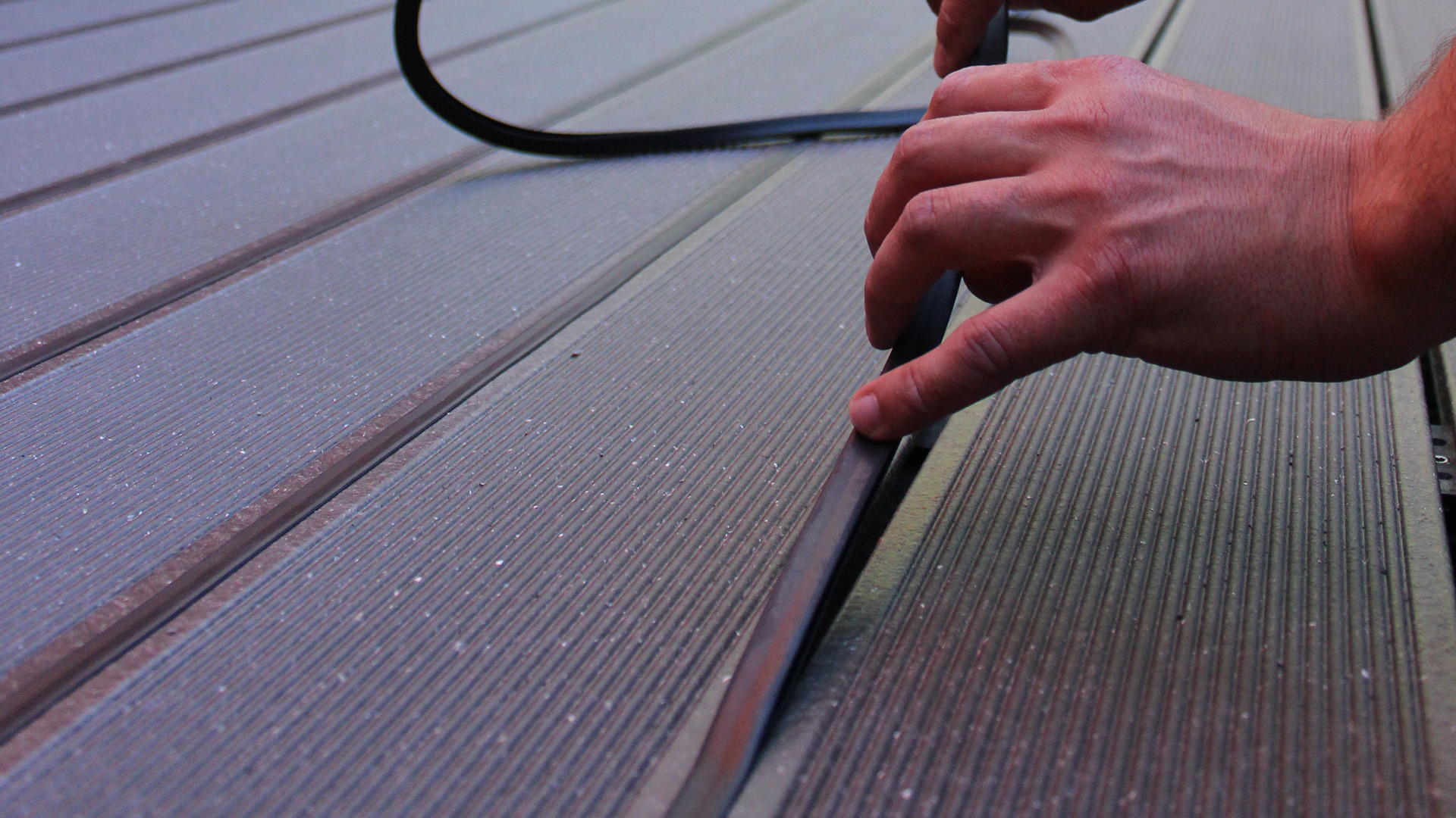 Installing Rubber Strip for UPM ProFi composite decking