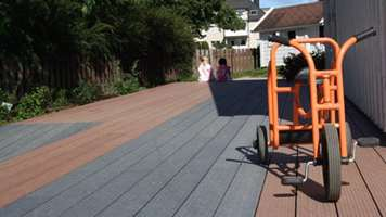 UPM ProFi Deck at a day care centre in Kristiansand, Norway