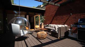 Decking complements the 1960's dream home