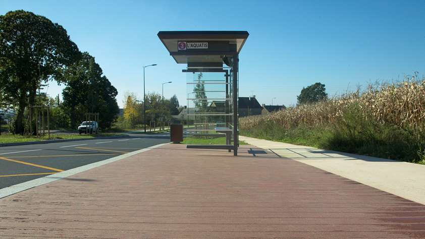 Bus Stop Decking, France