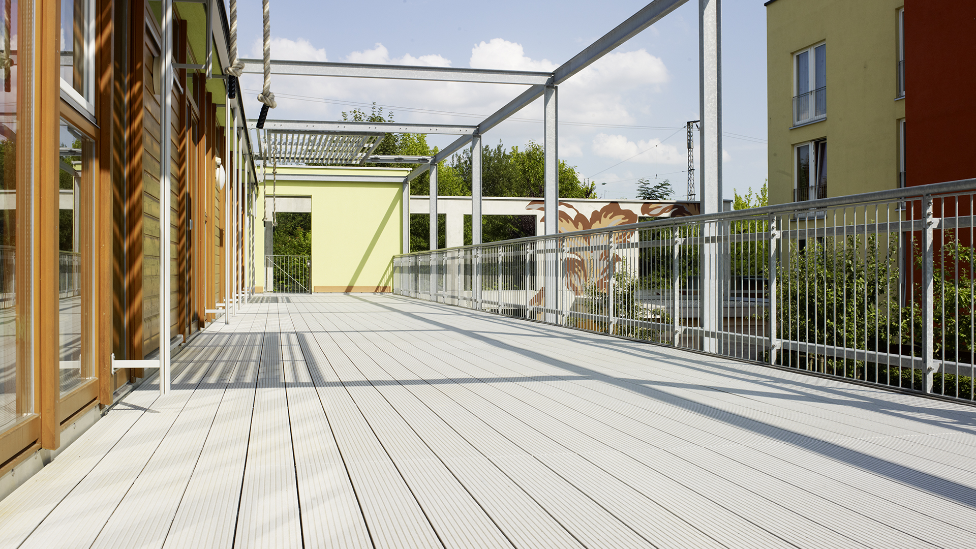 UPM ProFi composite decking at kindergarten